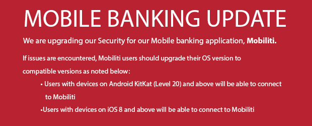 Mobile Banking Update